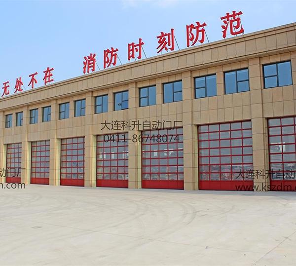 红色铝合金消防车库门