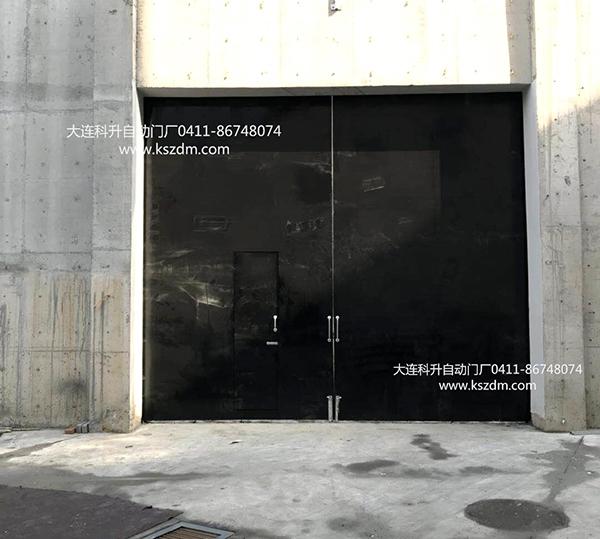 黑色烤漆钢板平开大门